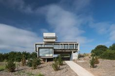 Architect Luciano Kruk and collaborators have slabbed together a 'rest home' topographically in the highest neighborhood of Costa Esmeralda called Golf House. Board Formed Concrete, Exposed Concrete, Decoration Shop, El Medano, Suite Principal, Golf Pictures, Rest House, Seaside Resort, The Dunes