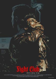 Fight Club - P-Lukaszewski Fight Club 1999, Fight Club Rules, Old Movies, Great Movies, Indie Movies, Marla Singer, Movies And Series, Alternative Movie Posters, Cinema Posters