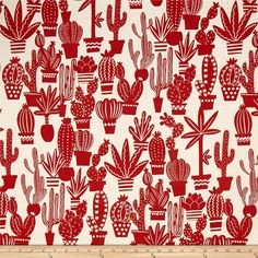 Designed by De Leon Design Group for Alexander Henry, this cotton print fabric is perfect for quilting, apparel and home decor accents. Colors include rust orange and cream.