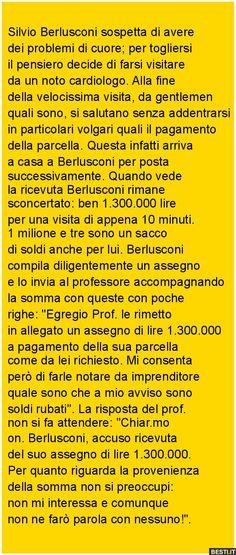 Silvio Berlusconi sospetta di avere