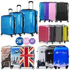 BTM Hard Shell ABS Retro Vintage Cabin Luggage 4 wheels Suitcase ...