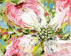 Pink Dogwood - Oil painting