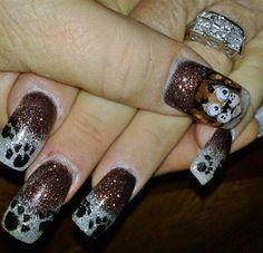 glitter puppies by Ivystar - Nail Art Gallery nailartgallery.nailsmag.com by Nails Magazine www.nailsmag.com #nailart
