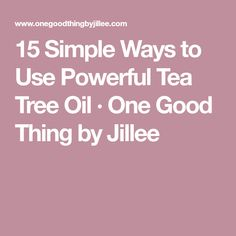 15 Simple Ways to Use Powerful Tea Tree Oil - One Good Thing by Jillee Melaleuca Essential Oil, Tea Tree Essential Oil, Essential Oils, Tea Tree Oil Uses, Tea Tree Oil For Acne, Tumeric For Acne, Tee Tree Oil, Oils For Dandruff, Oil Benefits