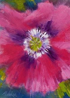 "Daily Paintworks - ""Anitas Poppy SUPER SUMMER SALE"" - Original Fine Art for Sale - © Barbara Benedetti Newton"