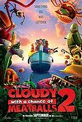 Watch Cloudy with a Chance of Meatballs 2 (2013)  Cloudy with a Chance of Meatballs 2 (2013)  Feature Film | PG | 0:0 | Released: September 27, 2013 Audio: English Movie Info: Flint Lockwood now works at The Live Corp Company for his idol Chester V. But he's forced to leave his post when he learns that his most infamous machine is still operational and is churning out menacing food-animal hybrids.