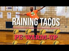 Physical Education Activities, Pe Activities, End Of Year Activities, Raining Tacos, Fun Songs For Kids, Dance Warm Up, Movement Songs, Elementary Pe, Pe Ideas