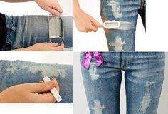 Как прикольно порвать джинсы