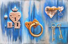 Open your heart (ouvre ton coeur) pastel - par swaze peintre pastelliste
