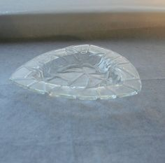 Clear fused glass triangle  bowl in my Cobblestone Collection by Glasspainter1, $33.00