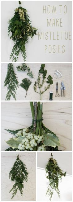 rustic winter wedding bouquets   How to Make Winter Wedding Mistletoe