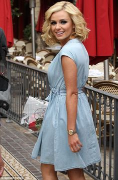 Katherine Jenkins in the H & M denim dress that I got this weekend