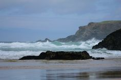 Bedruthan steps greetings card by urbanpoppyphoto on Etsy, £1.99