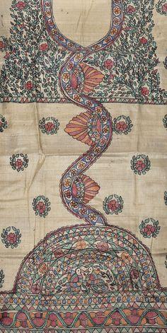 Dress Painting, Fabric Painting, Fabric Art, Madhubani Art, Madhubani Painting, Hand Painted Sarees, Tribal Fashion, Diy Clothing, Paint Designs