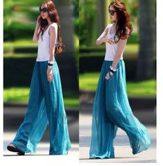 Free shipping 1176 wide leg pants chiffon ubiquitous1 skorts culottes casual pants-inPants  Capris from Apparel  Accessories on Aliexpress.com $14.98