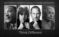 Think Different Martin Luther King, John Lennon, Steve Jobs and Albert Einstein HD desktop wallpaper : High Definition : Fullscreen : Mobile Steve Jobs, Metal Gear Solid, Hd Desktop, Iphone Wallpapers, Martin Luther King, John Lennon, King John, Science Guy, E Mc2