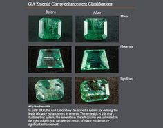 Characteristics determining emerald value. It requires a well-trained eye to recognize the sometimes subtle variations that make significant differences in value.