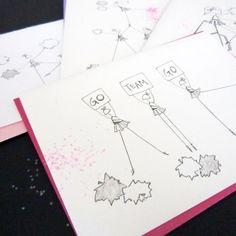 Cheer Stationery, Set of 8 Blank Notecards- LOinLONDON® fine paper goods + whimsical design | www.loinlondon.com
