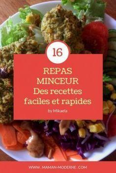 REPAS MINCEUR : 16 recettes faciles et rapides pour perdre du poids sans régime. Des idées de recettes healthy parfaites pour un rééquilibrage alimentaire. Réalisées en seulement 15 min de préparation et avec des ingrédients simples. #looseweight