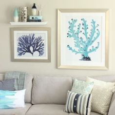 Switch it up for summer with quick coastal updates. @diyplaybook  went with blue coral art, and we can't get enough! #HomeGoodsHappy #decor via Instagram