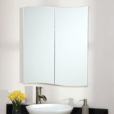 Gatewood Stainless Steel Recessed Medicine Cabinet - White Powder Coat. 23.25 wide cheaper than ikea 229.95
