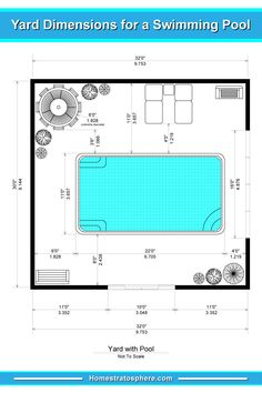 Pool Cabana Plans with Bathroom New 50 Swimming Pool House Cabana and Pergola Ideas S Pool Sizes Inground, Small Inground Pool, Inground Pool Designs, Small Pools, Swimming Pool Designs, Intex Pool, Swimming Pool Size, My Pool, Indoor Swimming Pools