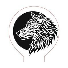 Wolf and moon illusion lamp plan vector file OP for CNC - Cnc Router, 3d Illusion Art, Best Jigsaw, Wolf Face, Woodworking Jigsaw, Wolf Moon, Japanese Embroidery, Embroidery Techniques, String Art