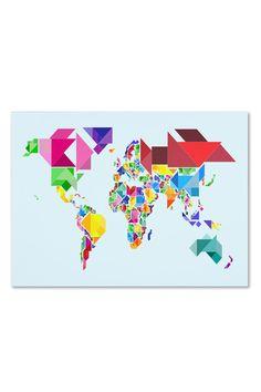 Michael Tompsett Tangram Worldmap