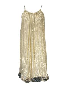 Gold Shift Dress