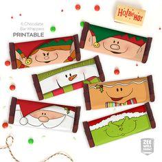 Patycake Freebies Christmas Wrappers Chocolate Bar Xmas