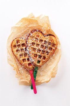 Recetas fáciles un waffle en palito