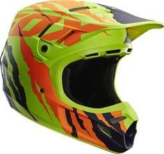 2014 Fox V4 Forzaken LE Dirt Bike Off-Road ATV Quad Motocross Racing Helmet
