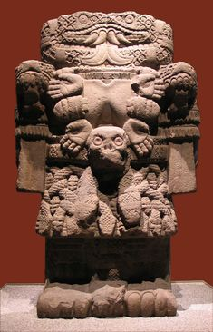 Goddess of Earth, Life and Death. In the Mexica room at the Museo Nacional de Antropología, Mexico City. Ancient Goddesses, Gods And Goddesses, Ancient History, Art History, Aztec Culture, Inka, Aztec Art, Mesoamerican, Art Sculpture