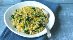Lemon and Spinach Orzotto
