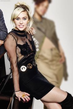 """mileyraycyrusfashionstyle: """"New photo of Miley from The Voice photoshoot """""""