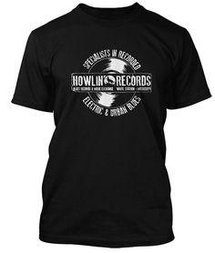 cdf43da05a07 HOWLIN WOLF Howlin Records Blues inspired, Men's T-Shirt: Amazon.co.