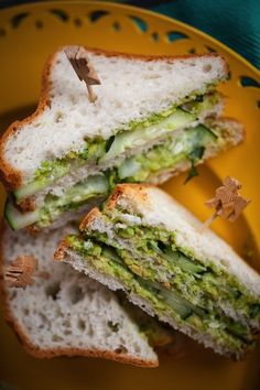 Gluten Free Lemon-Avocado Tea Sandwiches