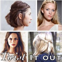 A good #Twist will help hide bangs that need to grow! #Hairtalktime