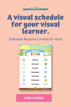 Visual schedules provide structure and helps make switching between tasks less hectic because kids can see exactly what comes next. Whether you're teaching autistic students or simply organizing activities for autistic kids at home you can use this template to create an easy to follow routine. #visualscheduleautism #visualschedule #activitiesforautistickids #inspiredproseprintables Visual Schedule Autism, Daily Schedule Kids, Daily Schedule Template, Kids Schedule, Visual Schedules, Toddler Routine Chart, Bedtime Routine Chart, Daily Routine Chart, Chore Chart Template
