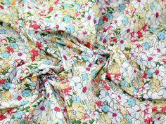 Floral Print Polycotton Dress Fabric Cream | Fabric | Dress Fabrics | Minerva Crafts Floral Tops, Floral Prints, Minerva Crafts, Fabric Houses, Gorgeous Fabrics, Dressmaking, Fabric Design, Quilts, Cream