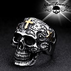 Unisexe Full Finger Ring Claw Skull Gothique Armure Punk Bijoux chevalier Carnaval Top