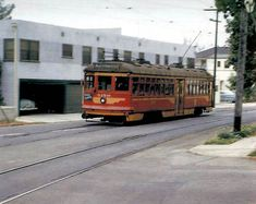 Frank Thompson Photo, Ralph Cantos Collection  Pacific Electric no. 5150 is captured at Hawthorn and Poinsettia Avenues in Hollywood in 1952.