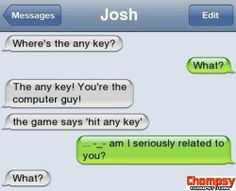 iPhone SMS The any key
