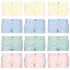 pastels mini shorts