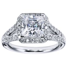 Princess Cut Halo Engagement Ring | Princess Cut Halo Engagement Ring Setting 31 - Gerry The Jeweler-- omg I'm obsessed!!