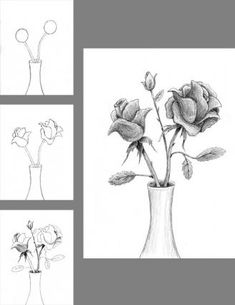 how to draw a detialed rosw