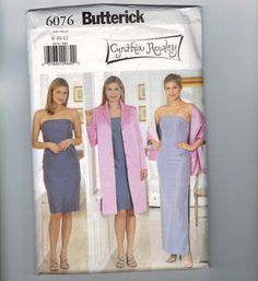 Butterick 6076 misses dress and jacket