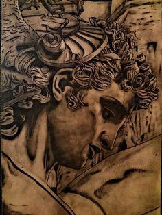 Tattoo Estatua Perseo Por LionCastleTattoo