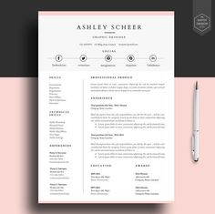 cv template ideas cover letters professional resume template resume template for by havindesign - Free Resumes Templates