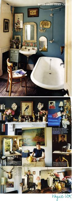 love this quirky bathroom